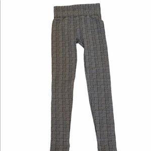 Plaid High Waisted Soft Lined Skinny Legging S/M